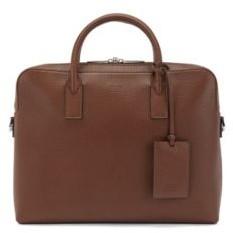 HUGO BOSS Single document case in embossed Italian leather