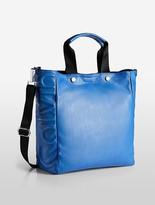 Calvin Klein Athletic Jetlink Leather Tote Bag