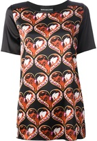 Marco Bologna gem heart print top