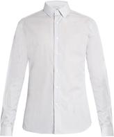 Valentino Double-cuff striped-cotton shirt