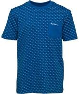 Ben Sherman Junior Boys Shadow Polka Dot T-Shirt Bright Cobalt Blue