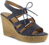 Azura Women's Kaba Wedge Sandal -Blue Denim