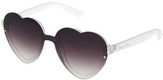 Sam Edelman Heart Shield (Clear) Fashion Sunglasses