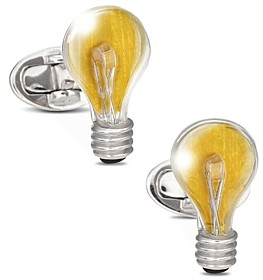 Jan Leslie Sterling Silver Light Bulb Cufflinks