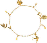 Alex Monroe 22-karat gold-plated sapphire charm bracelet