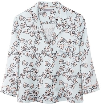 Pretty You London Mix & Match Floral Shirt In Duck Egg Blue - Shirt Only