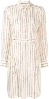 Chloé chain print shirt dress