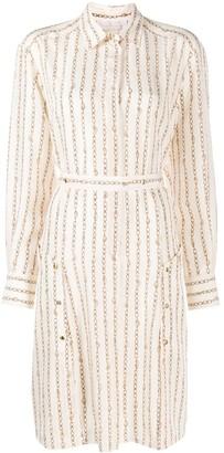 Chloé Chain Print Shirt Dress