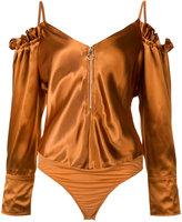Nina Ricci cold shoulder body - women - Silk/Polyamide/Spandex/Elastane/Viscose - 36