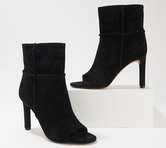 Vince Camuto Suede Peep-Toe Ankle Booties - Sashane