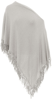Minnie Rose F2639C16 Cotton Fringe Ruana In Ecru
