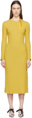 Simon Miller Yellow Stretch Wide Rib Wells Dress
