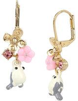 Betsey Johnson Marie Antoinette White Bird Drop Earring