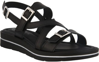 Spring Step Leather Ankle Strap Sandals - Salicaria