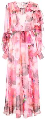 MSGM Floral Ruffled Maxi Dress