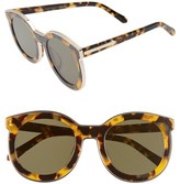 Karen Walker Women's Alternative Fit Super Spaceship - Arrowed By Karen 50Mm Sunglasses - Crazy Tortoise/ Gold