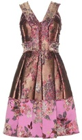 Erdem Flora Metallic Jacquard Dress