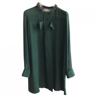 Dice Kayek Green Silk Dress for Women