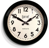 Newgate Large Electric Clock - Black