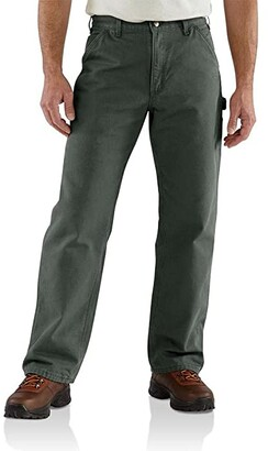 Carhartt Big Tall Loose Fit Washed Duck Flannel-Lined Utility Work Pants