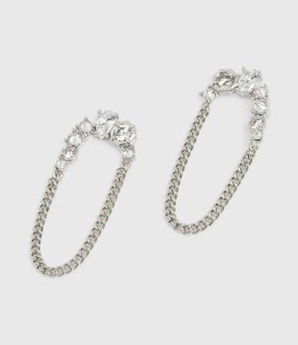 AllSaints Adah Silver Tone Cubic Zirconia Earrings