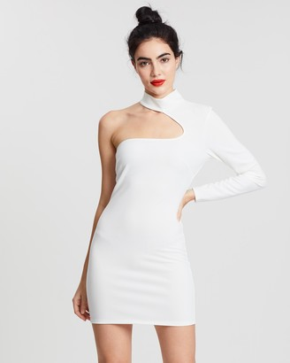 Missguided Cut-Out One Shoulder Dress