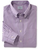 L.L. Bean Wrinkle-Free Pinpoint Oxford Shirt, Slightly Fitted Gingham