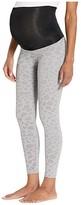 Beyond Yoga Leopard High Waisted Maternity Legging (Gray) Women's Workout