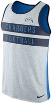 Nike Men's San Diego Chargers Stripe Tri Tank