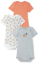 Petit Bateau Pack of 3 baby boy bodysuits
