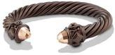 David Yurman Renaissance Bracelet In Black And Gold Aluminum, 10Mm