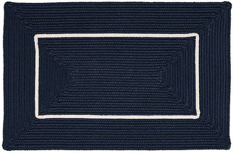 """One Kings Lane Accent Doormat - Navy/White - 18""""x30"""""""