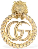 Gucci GG MARMONT LION HEAD MONO EARRING