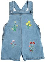 Stella McCartney Embroidered Stretch Denim Overalls