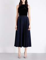 Emilio De La Morena Kilimanjaro velvet and georgette dress