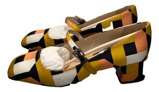 Prada Mary Jane Multicolour Cloth Heels