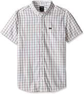 RVCA Men's Thatll Do Plaid 2 Short Sleeve Woven Shirt, Antique/White