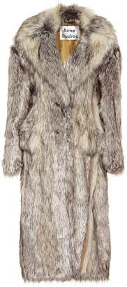 Acne Studios Faux fur coat
