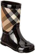 Burberry Kids' House Check Panel Rain Boot