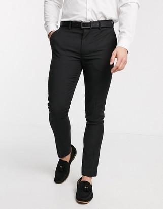 New Look skinny suit pant in black