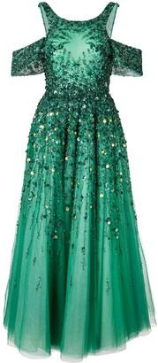 Saiid Kobeisy Sequin-Embellished Flared Tulle Dress