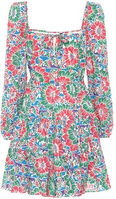 Rixo Roxy floral cotton minidress