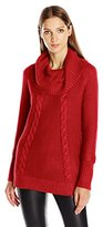 Calvin Klein Women's Cowl Neck Sweater W/ Thermal Stitch