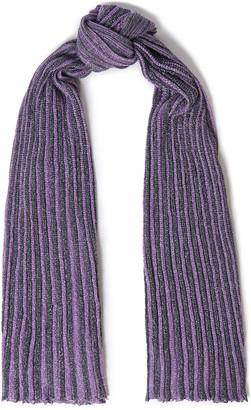Missoni Striped Metallic Ribbed-knit Scarf