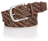 Daniel Cremieux Braided Leather and Linen Belt