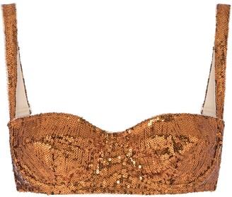 Dolce & Gabbana Sequin-Embellished Balcony Bra