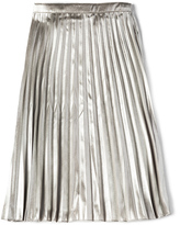 Bardot Junior Metallic Pleated Skirt
