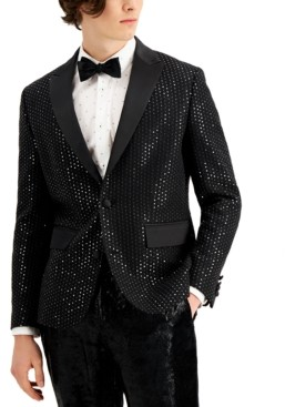 INC International Concepts Inc Men's Kyle Sequined Blazer, Created for Macy's