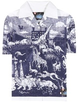 Prada Survival Utopia printed cotton shirt