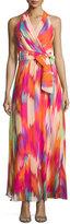 Chetta B Chiffon Sleeveless Maxi Dress, Multi
